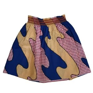 Vintage 1970s country patchwork circle skirt